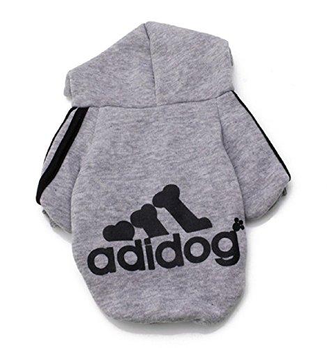 Winter Cute Warm Casual Coat Jacket Adidog Pet Clothes Hoodie Clothing Comfortable Cotton Blend (L, (Daisy Duke Fancy Dress)