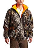 Yukon Gear Mens Reversible Break Up Insulated Parka Jacket (Mossy Oak Break-Up to Blaze Orange, Medium)