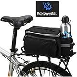 ROSWHEEL Black Multi-functional Bicycle Rear Seat Trunk Bag Shoulder Handbag Bag Pannier