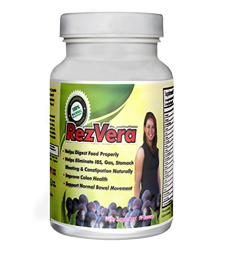 #1 Best All Natural Digestive Supplement For Ibs Irritable Bowel Syndrome Stomach Bloating Gas Diarrhea Heartburn Acid Reflux Constipation Indigestion - Rezvera
