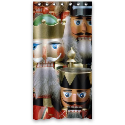 Detail Shop Cute And Cool Christmas Nutcracker Bathroom Decor 100 Polyester Shower Curtain 36 Wide X 72 Long