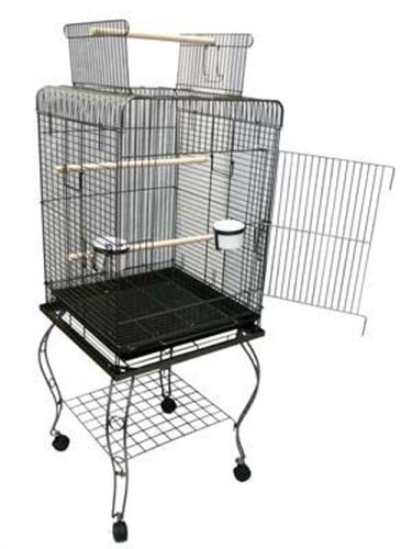 Brand New Parrot Bird Cage Cages Play W/stand on Wheels 20x20x58,AS