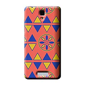 Garmor African Pattern Design Plastic Backcover for Gionee Pioneer P4- (African 1)