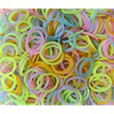 Refill Bands & Clips Mixed Colors (GLOW In The DARK)
