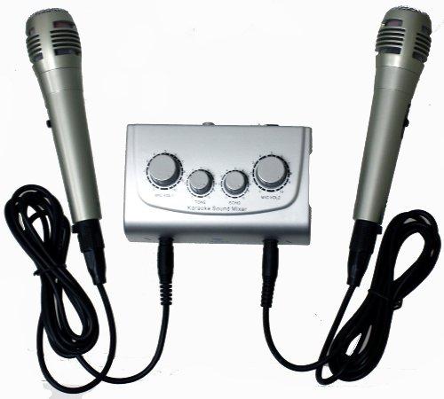 New Azusa MIK0115 Karaoke Mixer with Microphones