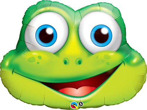 PIONEER BALLOON COMPANY 16795 Funny Frog Shape Balloon Pack, 32""