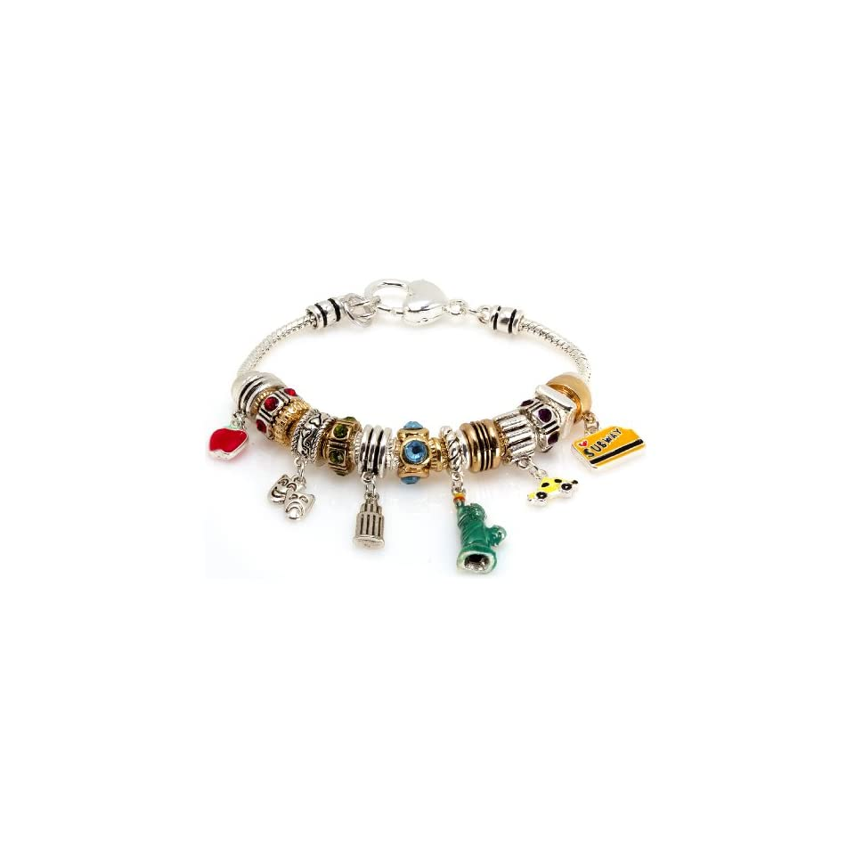 Royal Diamond New York Big Apple Subway Designer Fashion Bracelet with Swarovski Crystals