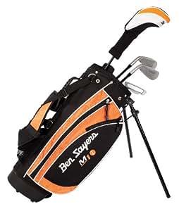 Ben Sayers Kids M1i Ensemble golf Junior 9 à 11 ans Fibre de carbone Tige régulière Droitier Noir/orange