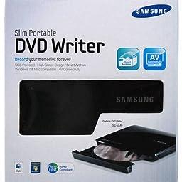 Samsung Portable DVD Writer Black 8X Slim DVD+/-RW (TSST SE-208DB/TSBS)