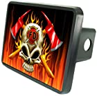 Firefighter Skull Custom Hitch Plug for 2