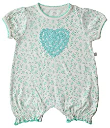 Babeez Baby Girl 100% Cotton Short Romper With Print & Applique to fit height 68 - 74cms
