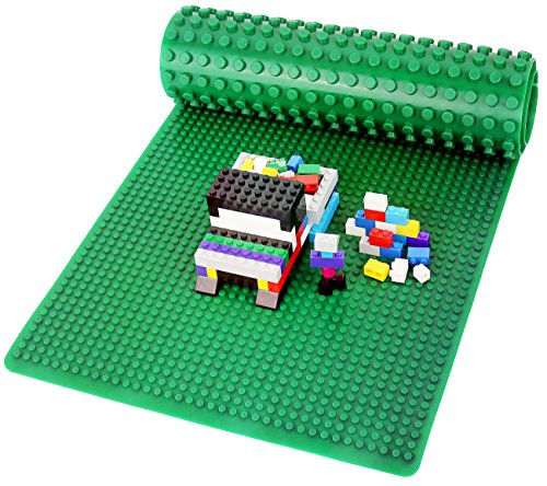 Click N' Play Lego/DUPLO Compatible Double Sided Silicone Baseplate Mat