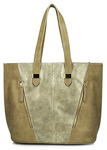 sr-squared-by-sondra-roberts-metallic-snake-and-nappa-tote-taupe-gold