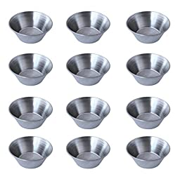 12 Polished Stainless Steel Portion Cups,1.5 oz. - 4 Dozen by Update International