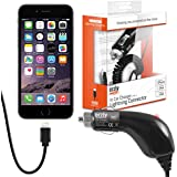 Orzly® CHARGE 'N' GO (V2) - iPhone Car Charger - Portable In-Car Charging Cable with Flexi-Lead and Car Cigarette Lighter Socket (Suitable for use with: iPhone 5, iPhone 5S, iPhone 5C, iPhone 6, iPhone 6 Plus)