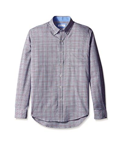 Alex Cannon Men's Long Sleeve Button Down Houndstooth Shirt