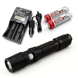 ThruNite® TN12 Taktische LED-Taschenlampe: 1050 Lumen, 5 verschiedene Lichtstufen, Wasserfest (TN12 2016 CW+MCC-2+2X3400)