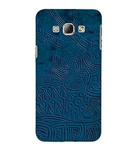 EPICCASE trendy design in blue Mobile Back Case Cover For Samsung Galaxy A8 (Designer Case)