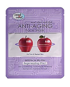 Korean Anti Aging & Moisturizing Facial Mask By Cool & Cool - 1 Sheet, Proven Results, Hydrating Skin Care Masks- For A Luxurious, Vibrant Skin - 100% Satisfaction Guarantee