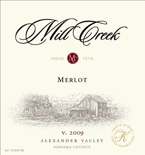 2009 Mill Creek Vineyard & Winery Merlot 750 Ml