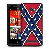 Head Case Designs Rebel Flag Redneck Pride Hard Back Case Cover for HTC Windows Phone 8X