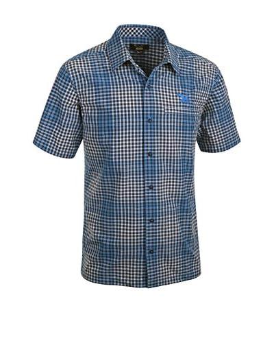 Salewa Camicia Uomo Scratch Dry M S Srt [Blu/Beige]