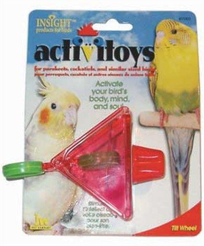 Cheap JW Pet Company Activitoy Tilt Wheel Small Bird Toy, Colors Vary (B0002DJUPG)