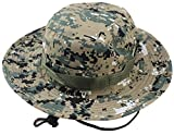 Albabara Men's Camo Wide Brim Boonie Army Hungting Sun Hats, ACU Camo