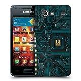 Head Case Black Circuit Board Back Case Cover For Samsung Galaxy S Advance I9070