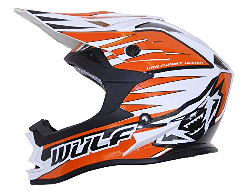 Wulfsport Advance MX Motocross Helmet (Large 59-60cm, Orange)
