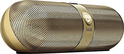 Beats by Dr. Dre Pill 2.0 Portable Wireless Bluetooth Speaker w/3.5mm Auxiliary Jacks & Case SPECIAL LIMITED EDITION( Gold ) (Beats Pill Red compare prices)
