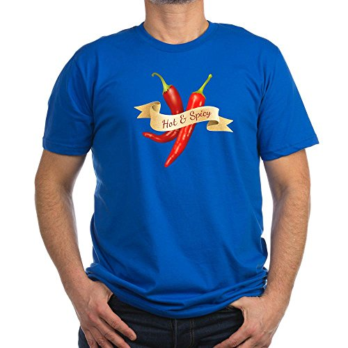 Truly Teague Men's Fitted T-Shirt (Dark) Hot & Spicy Chili Peppers - Royal Blue, 2X (Royal Cook Tortilla compare prices)
