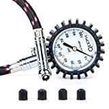 Tire Pressure Gauge Flexi by QEEPH - Measures up to 100 PSI - Large 2