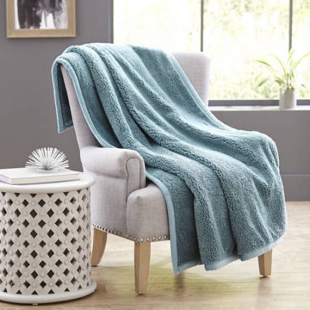Better Homes And Gardens Sherpa Throw In Teal