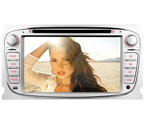 YINUO-7-Zoll-Autoradio-GPS-Navigation-2-DIN-fr-Ford-Mondeo-2007-2011-Ford-S-Max-2008-2012-Ford-Focus-2008-2010-Ford-Galaxy-2010-2012-mit-Bluetooth-USB-Untersttzung-iPod-iPhone-44S-55S-66Plus-1080p-Wie