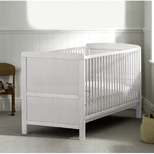 COT BED JUNIOR BED LUXURY WHITE FINISH WITH FREE MATTRESS