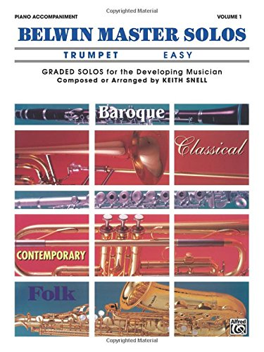 Belwin Master Solos (Trumpet), Vol 1: Easy Piano Acc. (Belwin Master Solos Trumpet compare prices)
