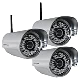 Foscam FI8905W Outdoor Wireless/Wired IP Camera - 3 Pack