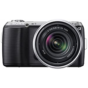 Sony NEXC3KB Compact Digital Camera System - Black (16.2MP, With 18-55mm Lens) 3inch Screen