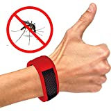 Today ONLY! Premium Natural Mosquito Repellent Bracelet - 2 Free Refills + Ebook Gift No Deet Best Pest Repeller for Adults and Kids