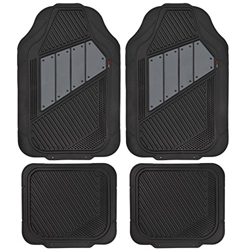 Motor Trend FlexTough 2 Tone Rubber Car Floor Mats for Auto - Heavy Duty All Season Black & Gray (Car Mats Honda Accord compare prices)