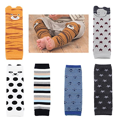 Baby Toddler Cozy Soft Cotton Leg Warmers Boys Girls Kneepads Knee Warmers Pack of 6
