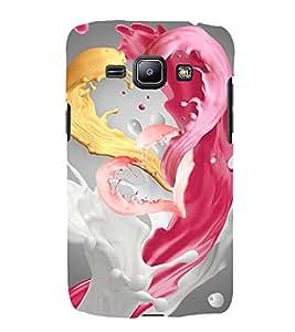 animated tricoloured milkshake pic 3D Hard Polycarbonate Designer Back Case Cover for Samsung Galaxy J1 (2016)::Samsung Galaxy J120F::Samsung Galaxy J1 (2016) Duos with dual-SIM card slots