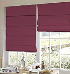 PRESTO BAZAAR 1 Piece Polyester Stripes Blind - Purple