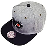 Mitchell & Ness and Philadelphia Flyers NP64Z Heather Grey Strapback Cap Basecap