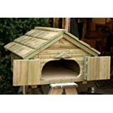 Handmade Wooden Tortoise House with Opening Roof