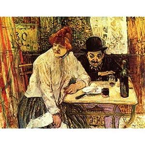 Henri de Toulouse-Lautrec (A la Mie (Im Restaurant La Mie)) Art Poster Print