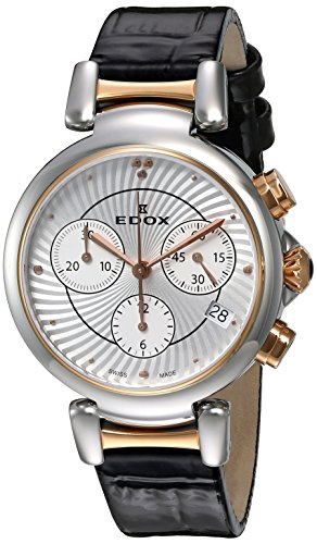 Edox-Womens-10220-357RC-AIR-LaPassion-Analog-Display-Swiss-Quartz-Black-Watch