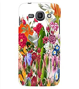 ColourCraft Beautiful Flower Bunch Design Back Case Cover for SAMSUNG GALAXY ACE 3 LTE S727