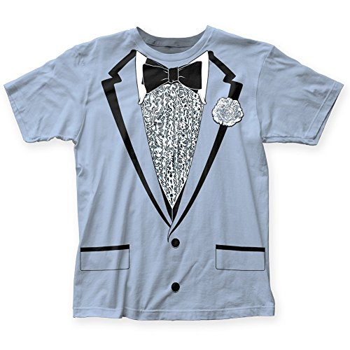 Impact Originals Retro Prom Blue Tux T-shirt (X-Large)